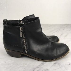 Lucky Brand Black Side Zippers Booties Size 8W